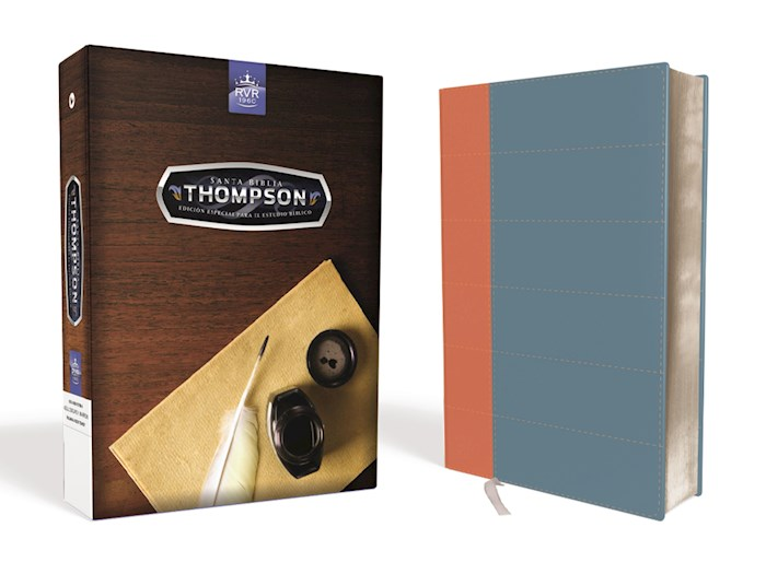 Span-RVR 1960 Thompson Study Bible-Blue/Tan DuoTone | SHOPtheWORD