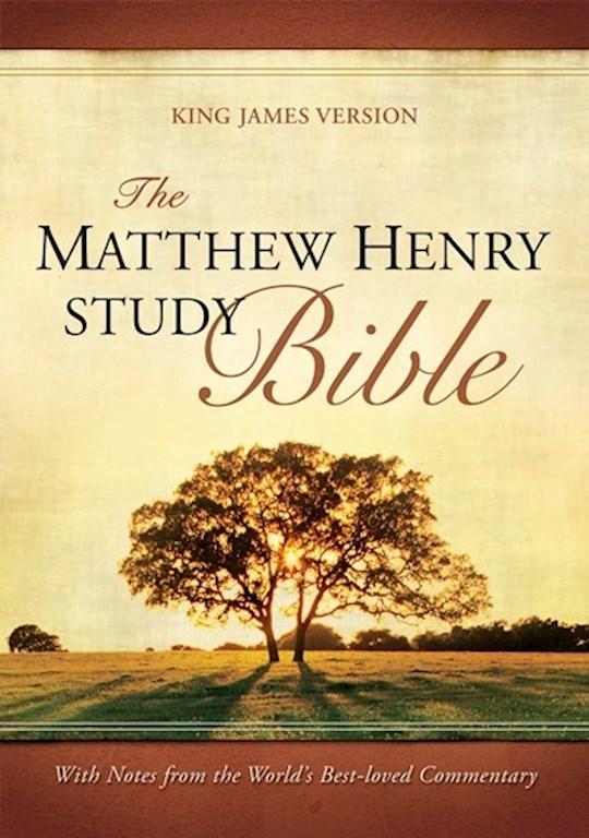 KJV Matthew Henry Study Bible-Hardcover | SHOPtheWORD