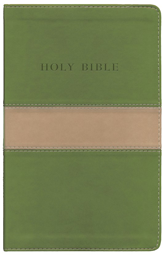KJV Personal Size Giant Print Reference Bible-Tan/Olive Flexisoft (Value Price) | SHOPtheWORD