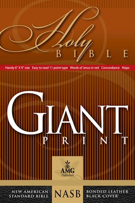 NASB Giant Print Handy-Size Bible-Black Bonded Leather   SHOPtheWORD