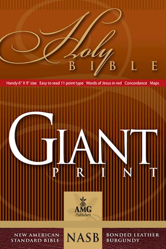 NASB Giant Print Handy-Size Bible-Burgundy Bonded Leather | SHOPtheWORD