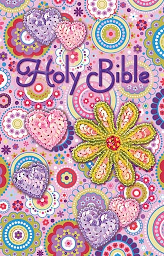 ICB Shiny Sequin Bible-Pink Paper Over Board | SHOPtheWORD