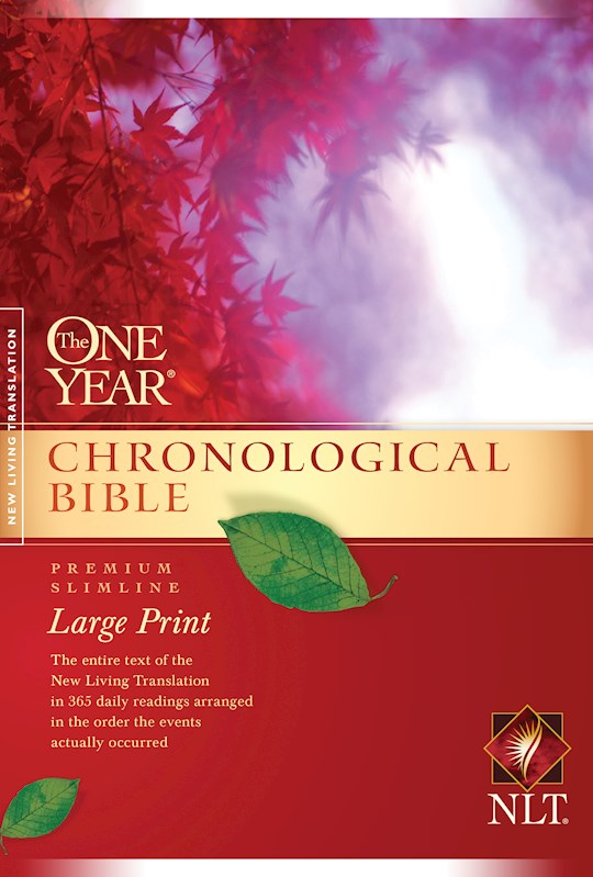 NLT One Year Chronological Slimline Bible/Large Print-Softcover | SHOPtheWORD
