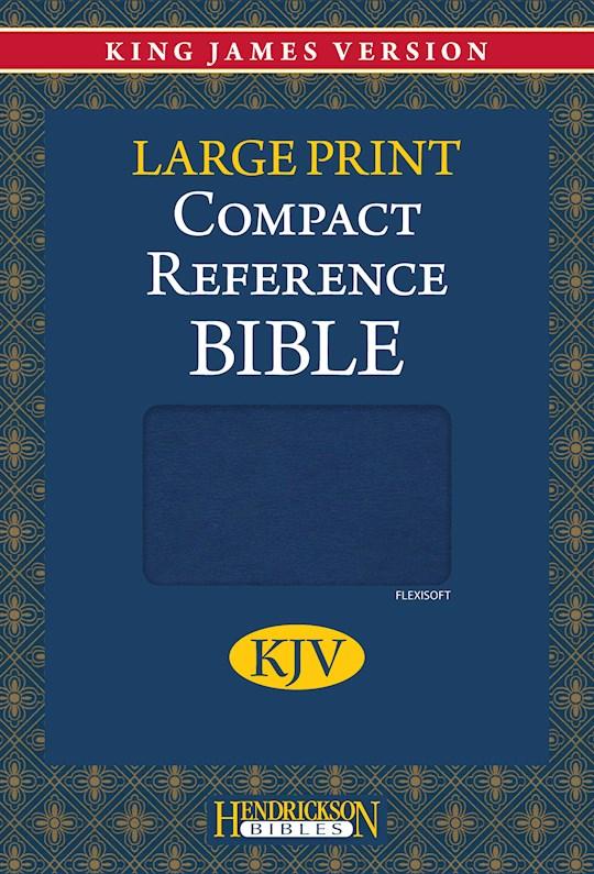 KJV Large Print Compact Reference Bible-Blue Flexisoft (Value Price) | SHOPtheWORD