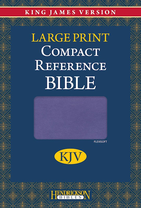 KJV Large Print Compact Reference Bible-Lilac Flexisoft (Value Price) | SHOPtheWORD