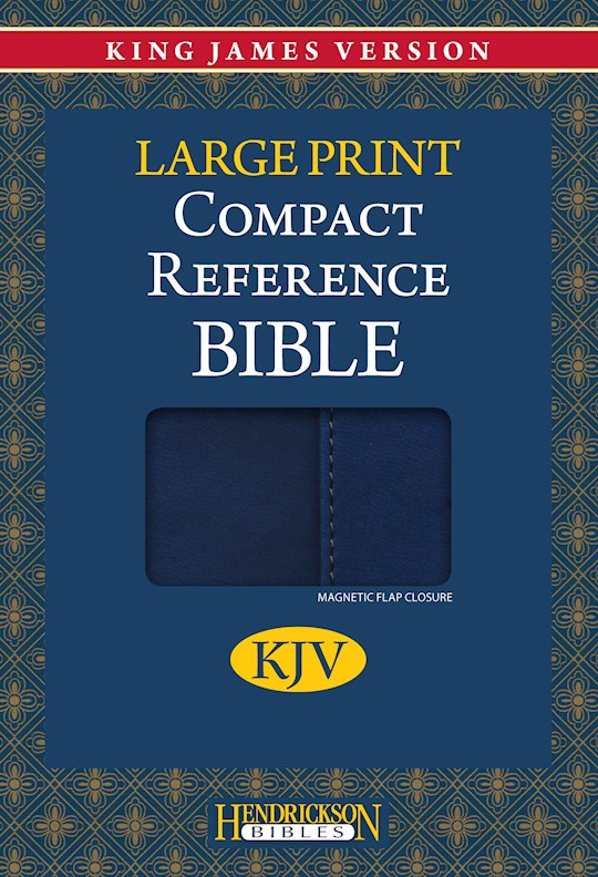 KJV Large Print Compact Reference Bible-Blue Flexisoft w/Magnetic Flap (Value Price) | SHOPtheWORD