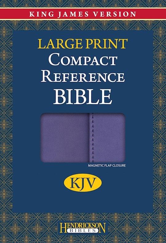 KJV Large Print Compact Reference Bible-Lilac Flexisoft w/Magnetic Flap (Value Price) | SHOPtheWORD
