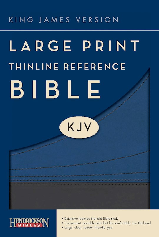 KJV Large Print Thinline Reference Bible-Slate/Blue Flexisoft (Value Price) | SHOPtheWORD