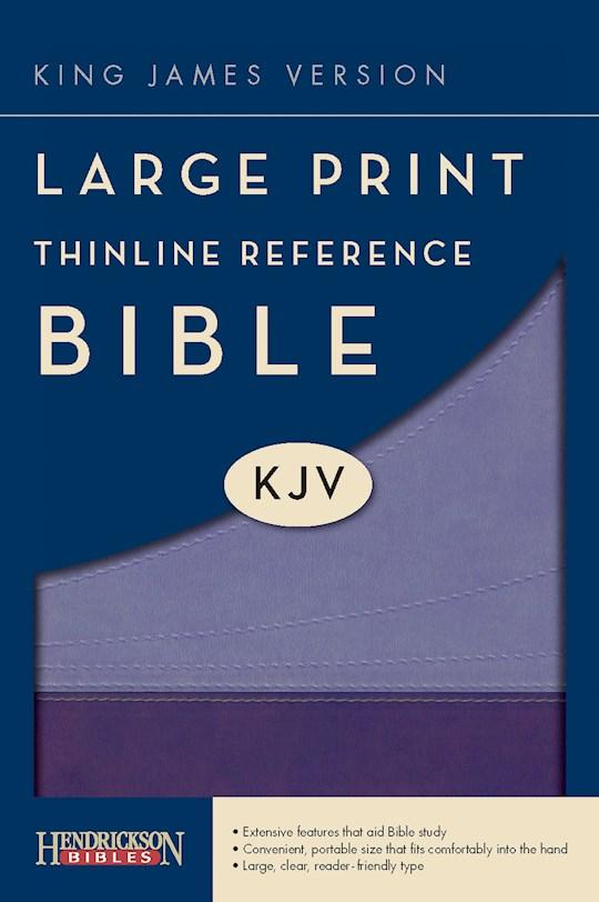 KJV Large Print Thinline Reference Bible-Violet/Lilac Flexisoft (Value Price) | SHOPtheWORD