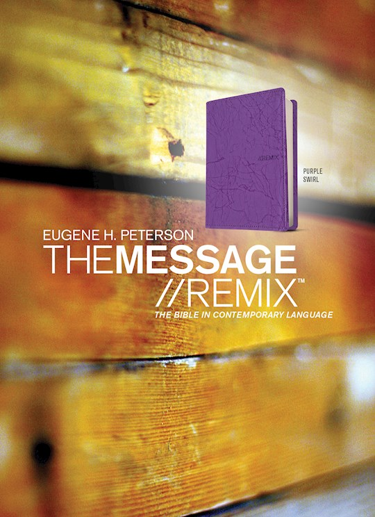 The Message Remix 2.0 (Numbered Edition)-Purple Swirl LeatherLook | SHOPtheWORD