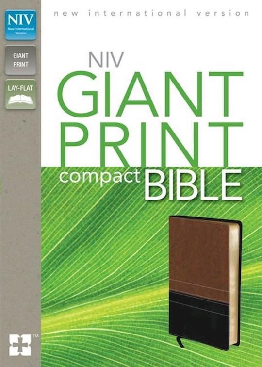 NIV Giant Print Compact Bible-Sierra/Black Duo-Tone | SHOPtheWORD
