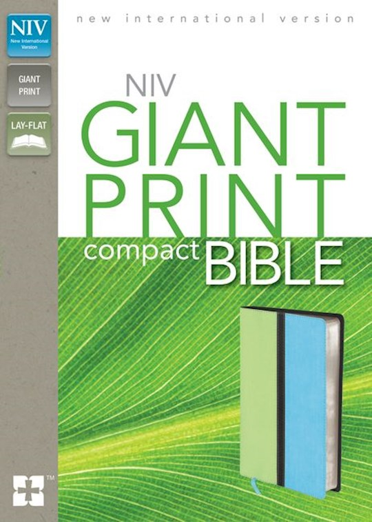 NIV Giant Print Compact Bible-Melon Green/Turquoise Duo-Tone (Not Available-Out Of Print) | SHOPtheWORD