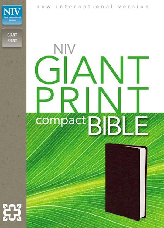 NIV Giant Print Compact Bible-Burgundy Leather-Look | SHOPtheWORD