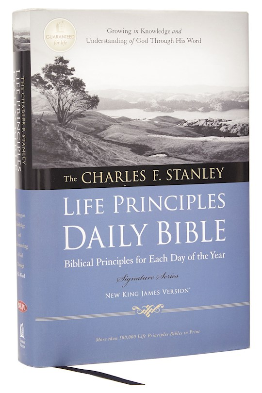 NKJV Charles Stanley Life Principles Daily Bible-Hardcover   SHOPtheWORD