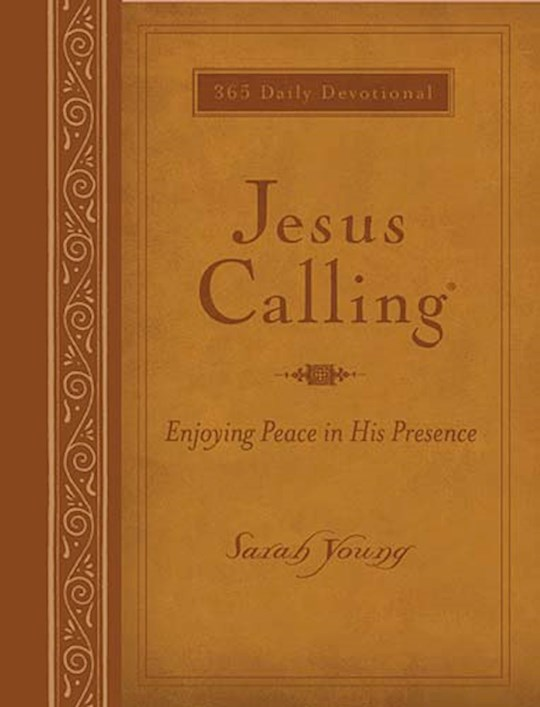 Jesus Calling (Deluxe Edition) Large Print-Tan LeatherSoft by Sarah Young | SHOPtheWORD