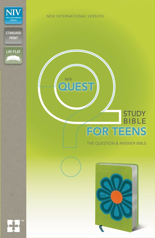 NIV Quest Study Bible For Teens-Kiwi/Caribbean Blue Duo-Tone (Not Available-Out Of Print)   SHOPtheWORD