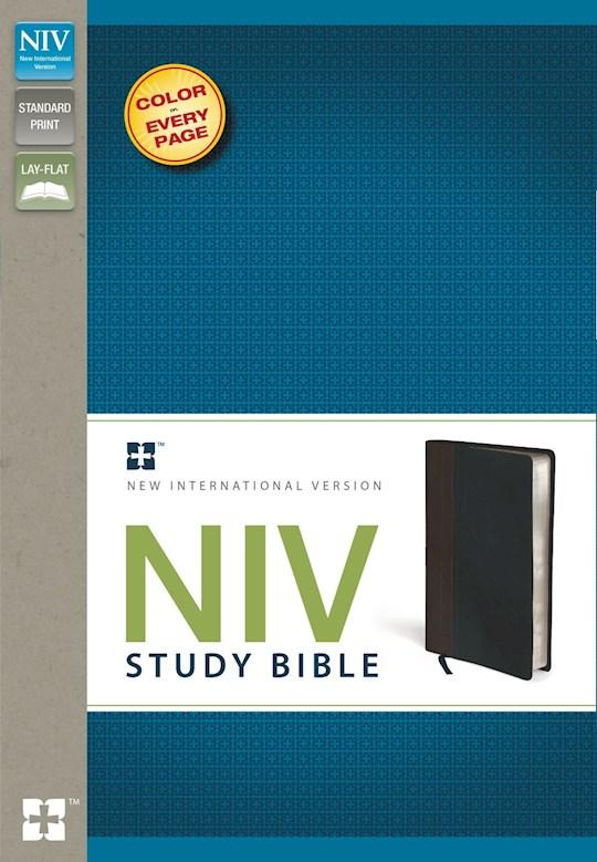 NIV Study Bible-Chocolate/Black Duo-Tone  | SHOPtheWORD