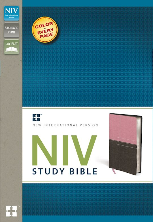 NIV Study Bible-Berry Cream/Chocolate Duo-Tone  | SHOPtheWORD