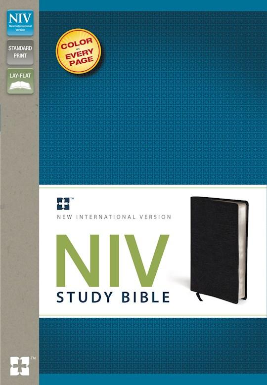 NIV Study Bible-Black Bonded Leather | SHOPtheWORD