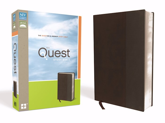 NIV Quest Study Bible-Brown/Gray Duo-Tone (Not Available-Out Of Print) | SHOPtheWORD