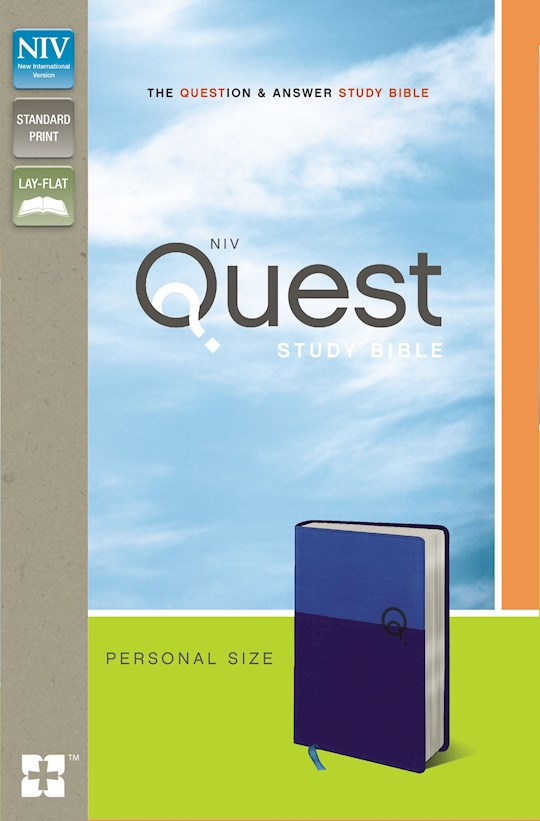 NIV Quest Study Bible/Personal Size-Blue/Blue Duo-Tone | SHOPtheWORD