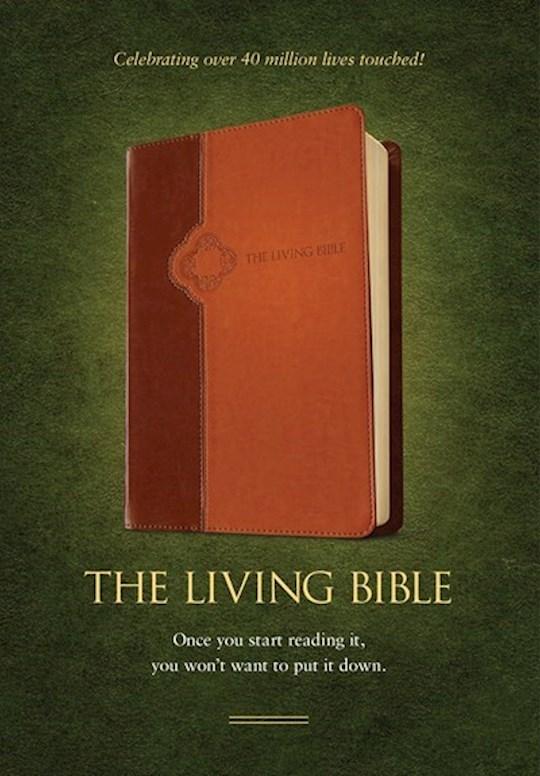 TLB The Living Bible-Brown/Tan TuTone  | SHOPtheWORD