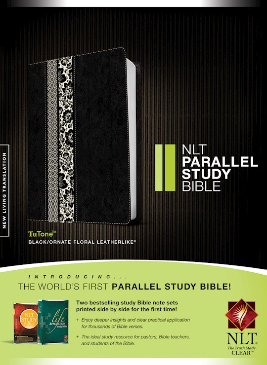 NLT Parallel Study Bible-Black/Floral TuTone  | SHOPtheWORD