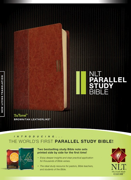 NLT Parallel Study Bible-Brown/Tan TuTone Indexed | SHOPtheWORD