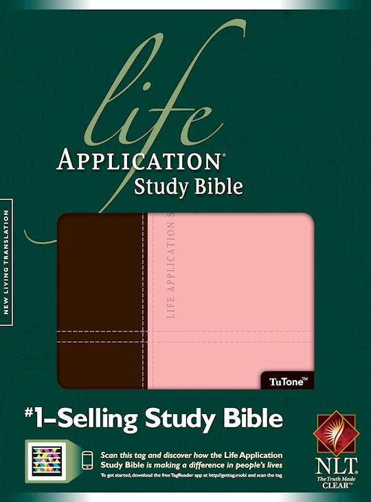 NLT Life Application Study Bible (Second Edition)-Dark Brown/Pink TuTone | SHOPtheWORD