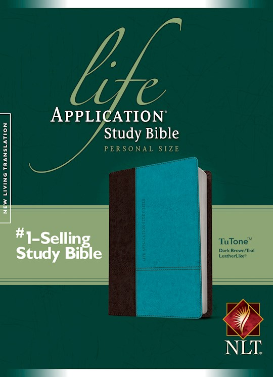 NLT Life Application Study Bible/Personal Size (Second Edition)-Brown/Teal TuTone  | SHOPtheWORD