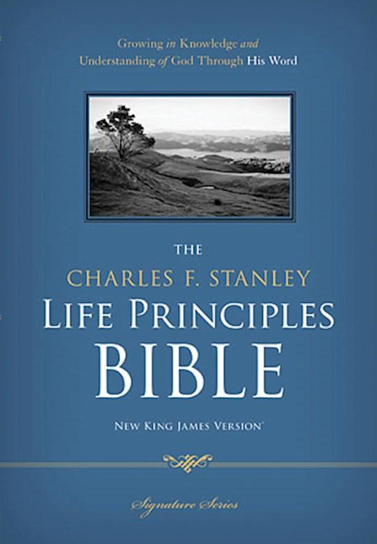 NKJV Charles Stanley Life Principles Bible-Hardcover | SHOPtheWORD