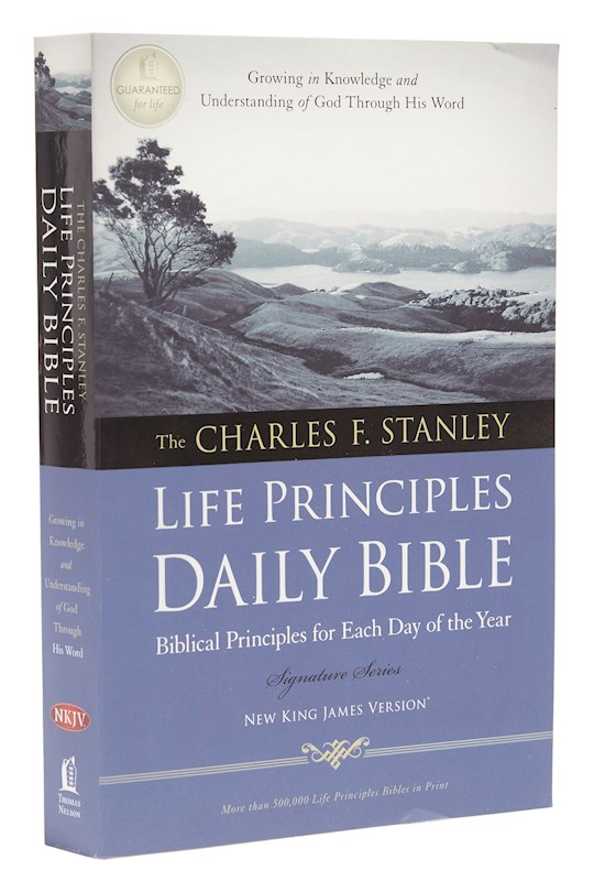 NKJV Charles Stanley Life Principles Daily Bible-Softcover | SHOPtheWORD