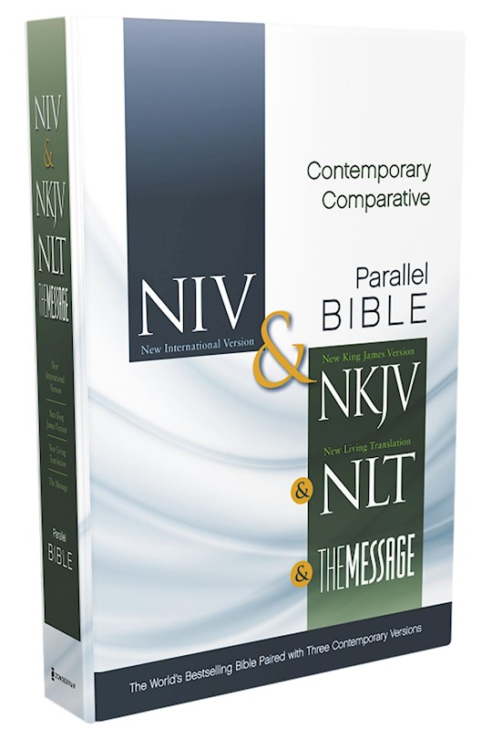 Contemporary Comparative Side-By-Side-NIV/NKJ/NLT/MS-Hardcover | SHOPtheWORD