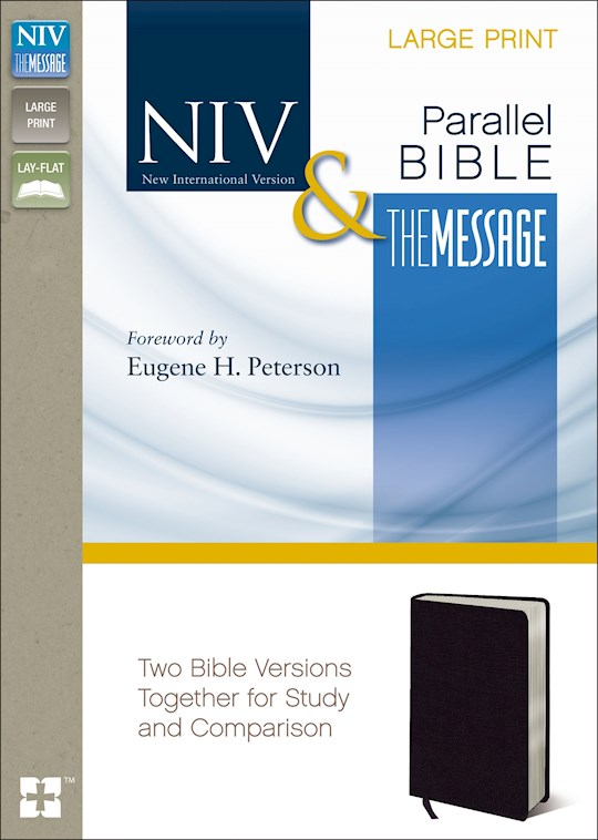 NIV & Message Side-By-Side Bible/Large Print-Black Bonded Leather | SHOPtheWORD