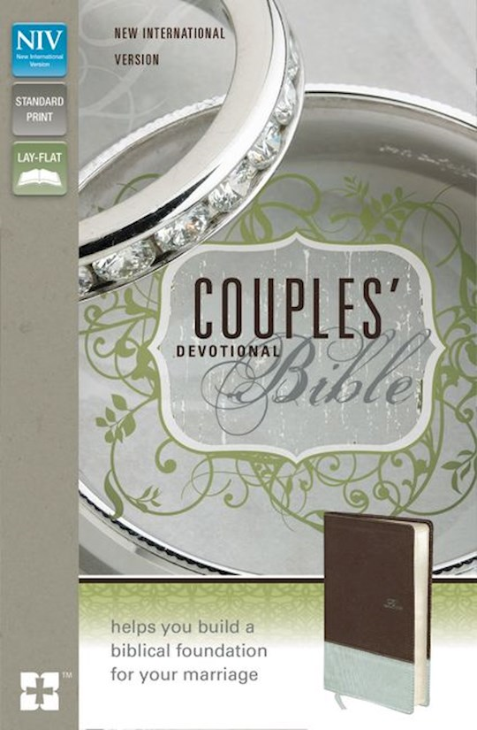 NIV Couples Devotional Bible-Chocolate/Silver Duo-Tone | SHOPtheWORD