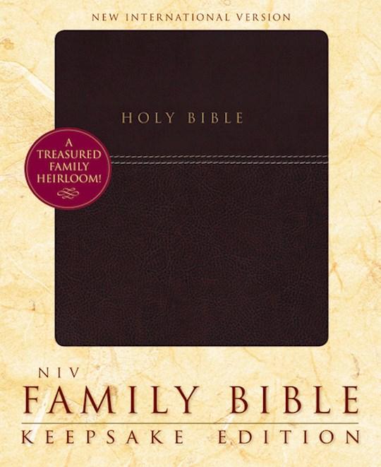 NIV Family Bible: Keepsake Edition-Burgundy Duo-Tone | SHOPtheWORD