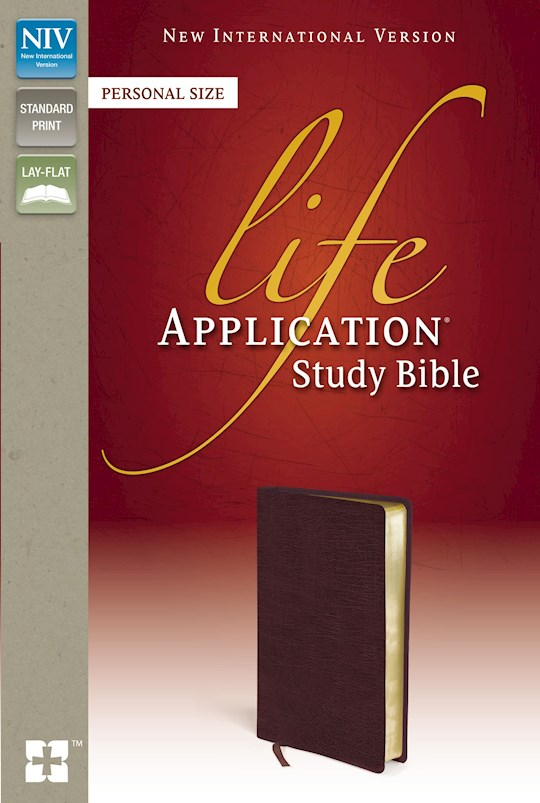 NIV Life Application Study Bible/Personal Size-Burgundy Bonded Leather | SHOPtheWORD