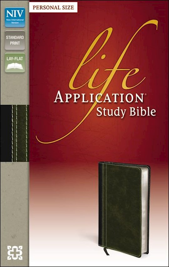 NIV Life Application Study Bible/Personal Size-Bark/Dark Moss Duo-Tone   SHOPtheWORD