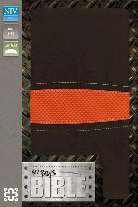NIV Boys Bible-Brown/Orange Duo-Tone | SHOPtheWORD