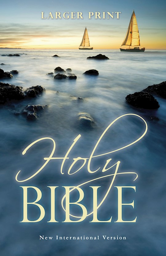 NIV Larger Print Bible-Ocean Softcover  | SHOPtheWORD