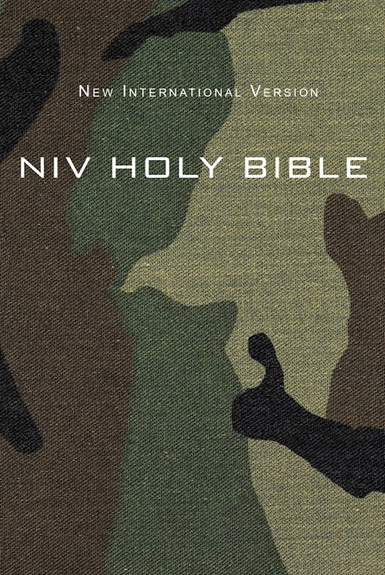 NIV Compact Bible-Green Camouflage Softcover | SHOPtheWORD