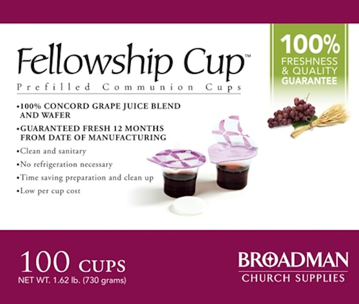 Communion-Fellowship Cup Prefilled Juice/Wafer (Box Of 100) | SHOPtheWORD
