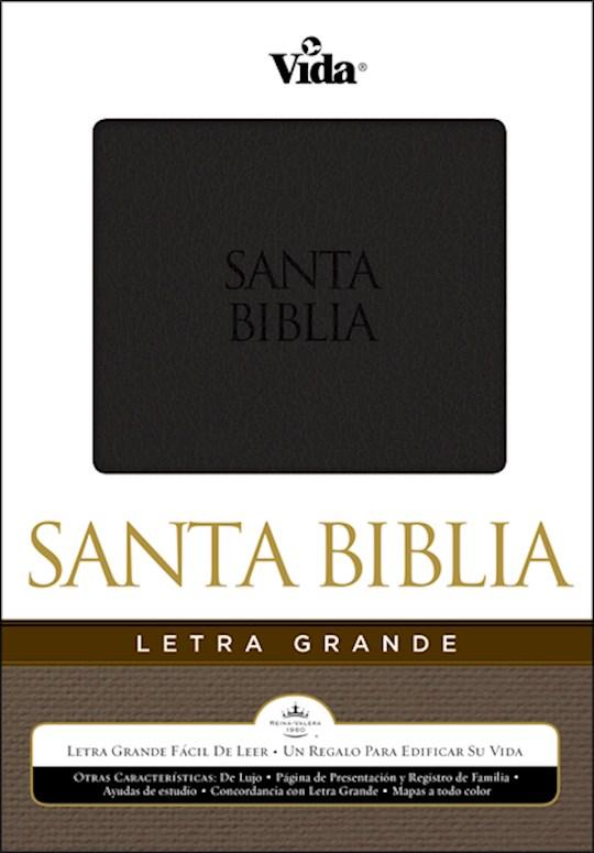 Span-RVR 1960 Large Print Bible-Black LeatherSoft   SHOPtheWORD