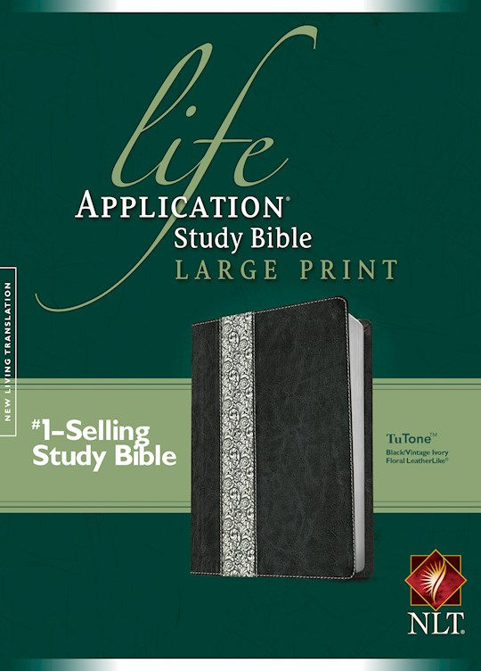 NLT Life Application Study Bible/Large Print (Second Edition)-Black/Ivory TuTone (Not Available-Out Of Print) | SHOPtheWORD