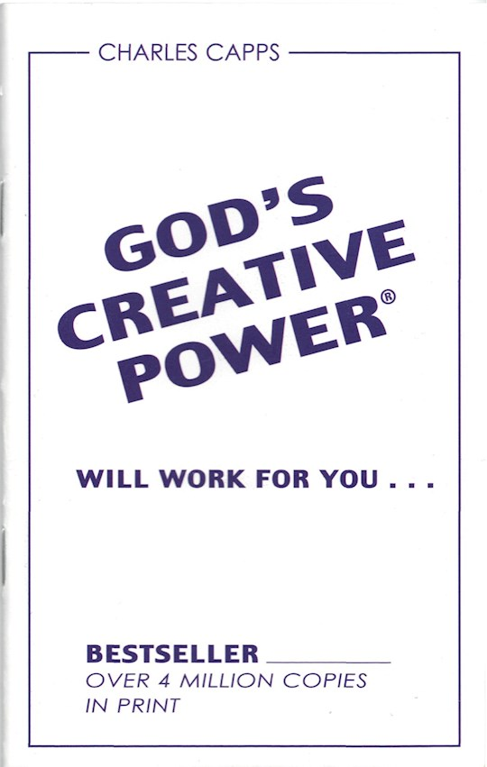 God's Creative Power Will Work For You by Charles Capps | SHOPtheWORD
