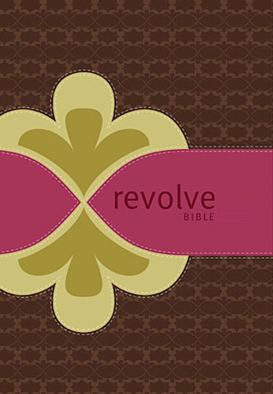 NCV Revolve Bible-Chocolate/Raspberry/Biscuit LeatherSoft   SHOPtheWORD