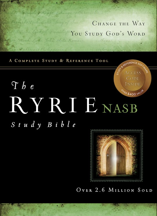 NASB Ryrie Study Bible-Black Genuine Leather Indexed | SHOPtheWORD