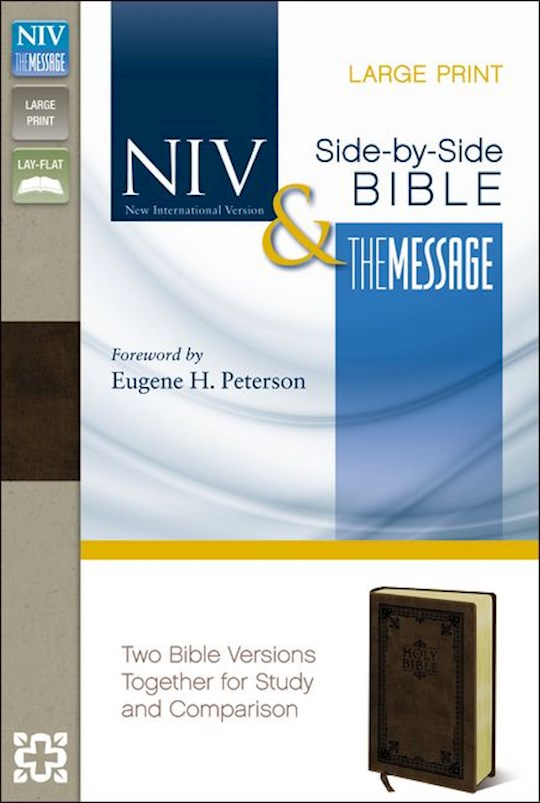 NIV & Message Side-By-Side Bible/Large Print-Brown Duo-Tone | SHOPtheWORD