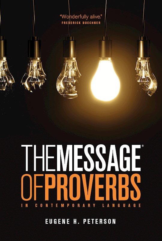 Message: The Book Of Proverbs-Softcover | SHOPtheWORD