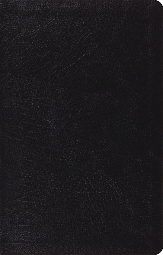 ESV Large Print Thinline Reference Bible-Black Genuine Leather | SHOPtheWORD